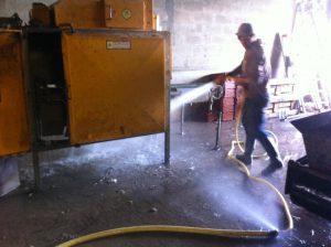 lavage machine à poireaux sarl renard, maraîcher bio, Yvelines 78