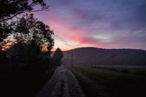 levé de soleil chez SARL Renard, maraîcher bio